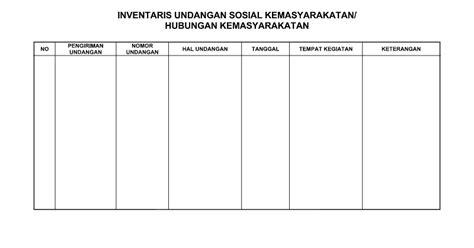inventaris undangan sosial kemasyarakatan perangkat