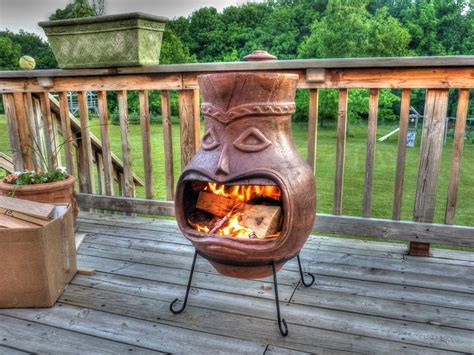 Chimney Firepit Clay Chimney Pit Pit Design Ideas