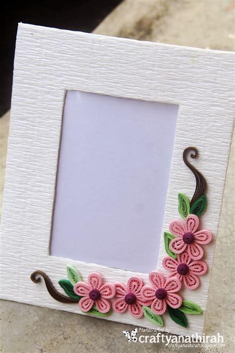 How To Make Photo Frames With Handmade Paper - craftyanathirah simply handmade frames