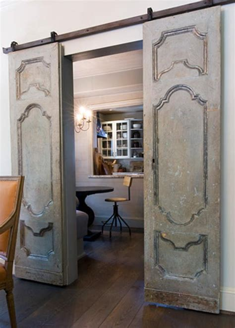 Interior Doors Sliding On Tracks Vintage Doors On Door Track Hardware So Country Design The You Want To Live