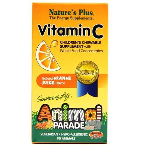 Vitamin Anak Animal Parade nature s plus animal parade vitamin c orange 250 mg 90 chewables evitamins
