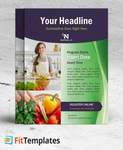 dietitian flyer template for health coaching or cooking