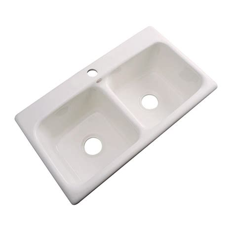 Acrylic Kitchen Sinks Thermocast Brighton Drop In Acrylic 33 In 3 Bowl Kitchen Sink In Forest 34340