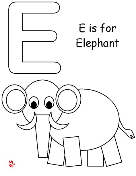 E Coloring Page Printable by The Letter E Coloring Pages Coloring Home