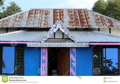 Tin Shed House Design by Wooden House In Bangladesh Stock Image Image Of Shed