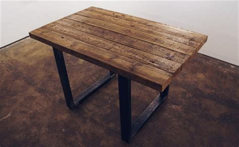 diy pallet table with steel box legs 101 pallets