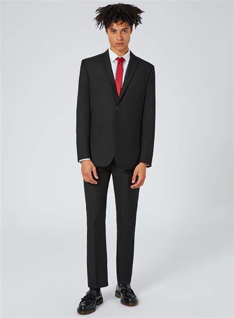 Slim Fit black slim fit suit hardon clothes