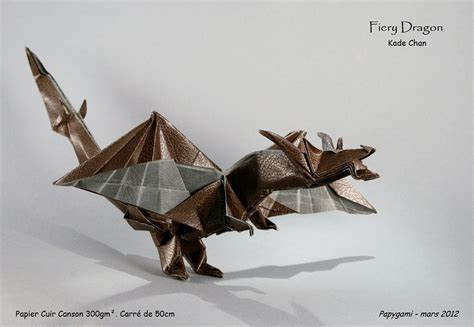 Origami Fiery - 23 quot clawsome quot origami dragons and wyverns origami me