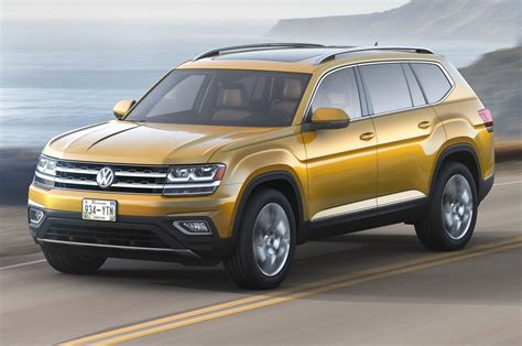 volkswagen atlas 2018 2018 volkswagen atlas look cuv debuts with