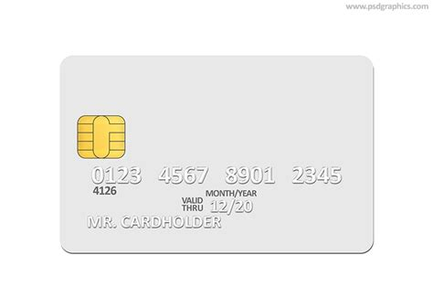 Debit Card Template Photoshop by Credit Card Template Psdgraphics