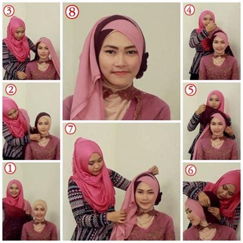 tutorial hijab pashmina simple untuk kebaya tutorial hijab untuk kebaya 3