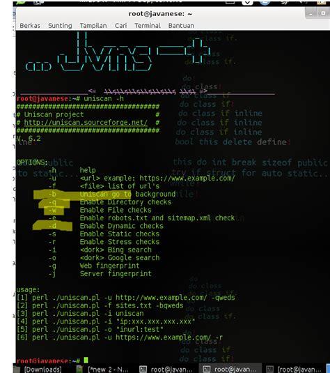 kali linux terminal tutorial tutorial applikasi komputer scan vulnerability