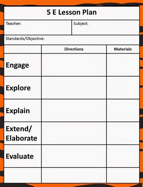 five e lesson plan template the 5e model our new lesson plans 5e science lessons