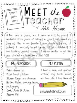 Meet The Letter Template