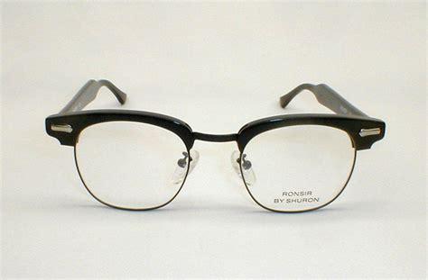 mens vintage eyeglasses black ronsir combo g