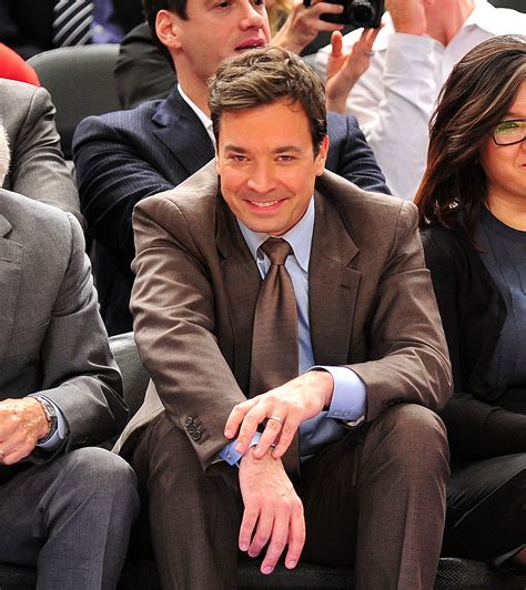 jimmy fallon tracy pictures of jimmy fallon and tracy at a knicks