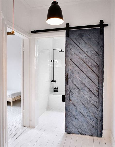diy sliding bathroom door how to make a diy barn door homedesignboard