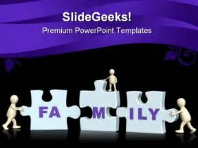 joining puzzle family powerpoint templates and powerpoint
