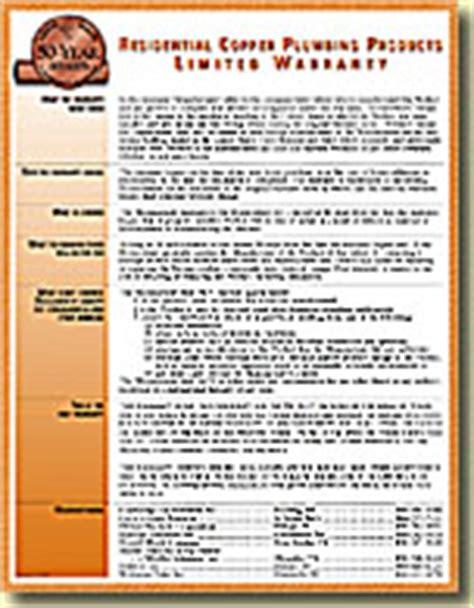 Plumbing Manufacturer S 50 Year Warranty Plumbing Warranty Template