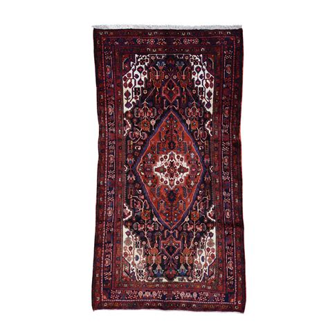 Wide Runner Rug 4 10 X8 10 Knotted Semi Antique Nahavand Wide Runner Rug Moac7889 The Rug Shopping