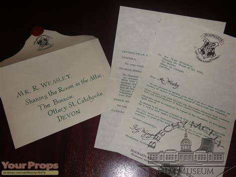 Hogwarts Acceptance Letter Second Year harry potter and the chamber of secrets weasley s 2nd