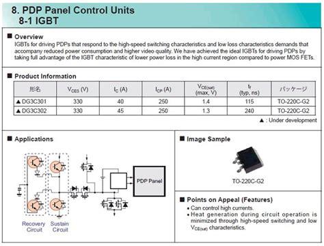 igbt transistor characteristics dg3c3020cl datasheet 300v 250a igbt panasonic