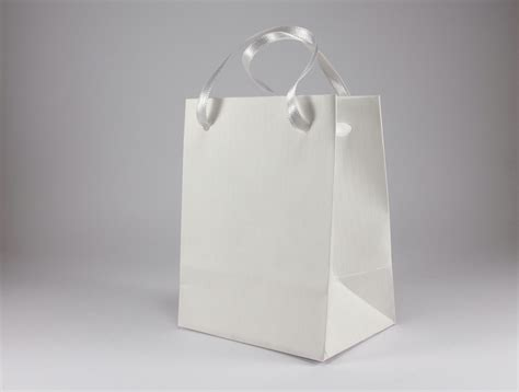Paper Bag Warna Mini Bc 10 small white gift bags satin ribbon handles kraft ribbed white paper for jewelry