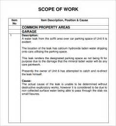 construction project scope of work template scope of work 22 dowload free documents in pdf word excel