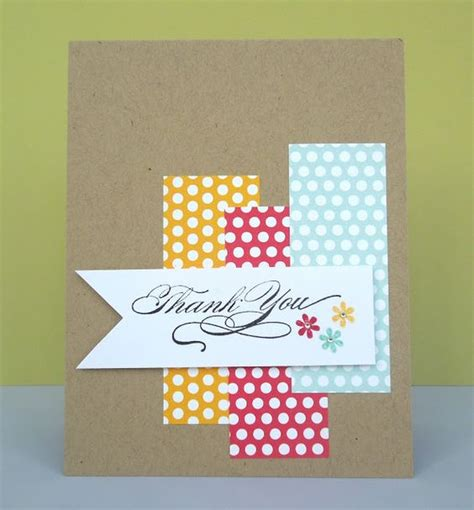 Ideas For Handmade Thank You Cards - 9 ideas for easy thank you cards the diy
