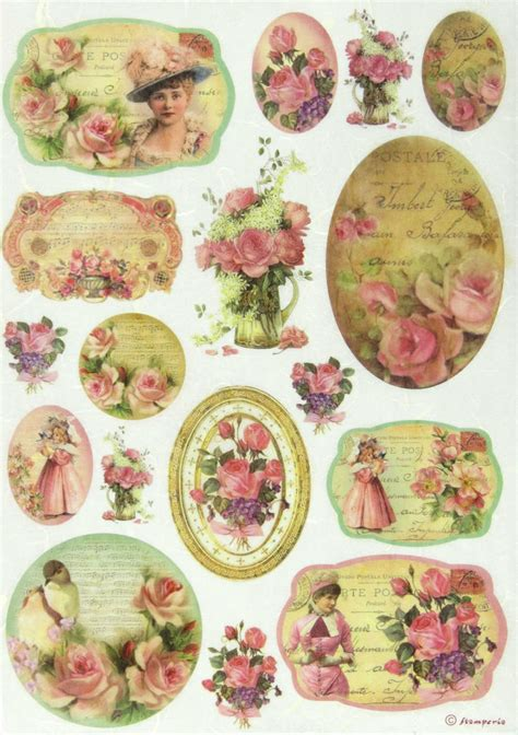 Decoupage Sheet - rice paper for decoupage scrapbook sheet craft paper