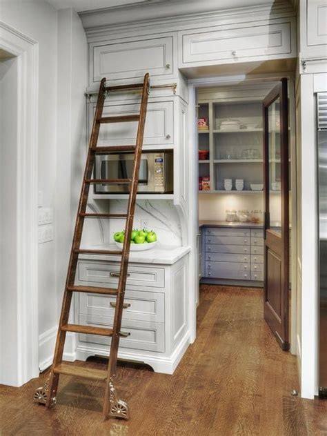 Rolling Pantry Ladder by 1000 Images About Kitchen Ladders On Library