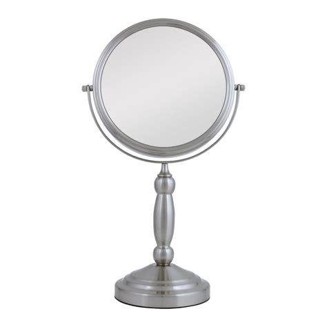 pedestal vanity mirror maxiaids swivel vanity mirror pedestal satin nickel