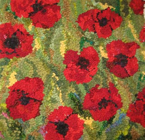 poppies rug poppy rug rug hooking