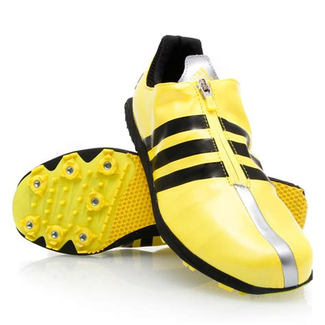 Adidas Tracking Yellow adidas adizero tj mens track and field shoes yellow
