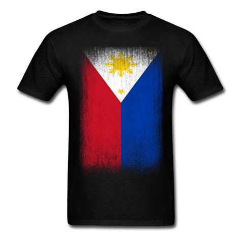 Phillippes T Shirts by Philippines Pride Flag Grunge Look T Shirt