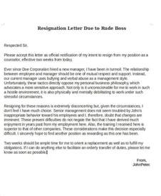 Resignation Letter Due To Bad Management Collection Of Solutions How To Write A Resignation Letter Bad Also Free Compudocs Us