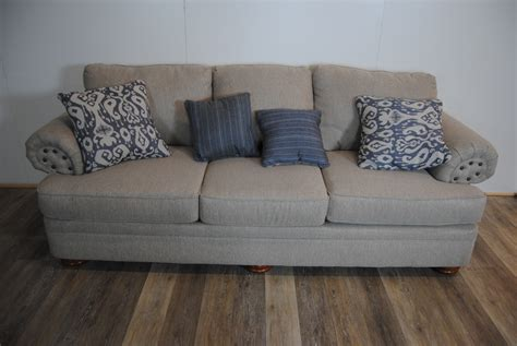 grey pattern sofa route 66 furniture 187 gray sofa w blue pattern pillows