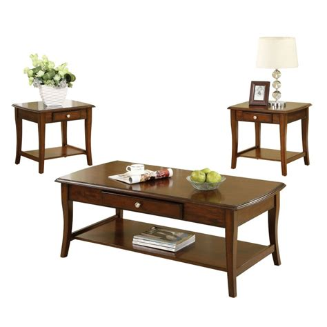 wade oak coffee table set home furniture direct