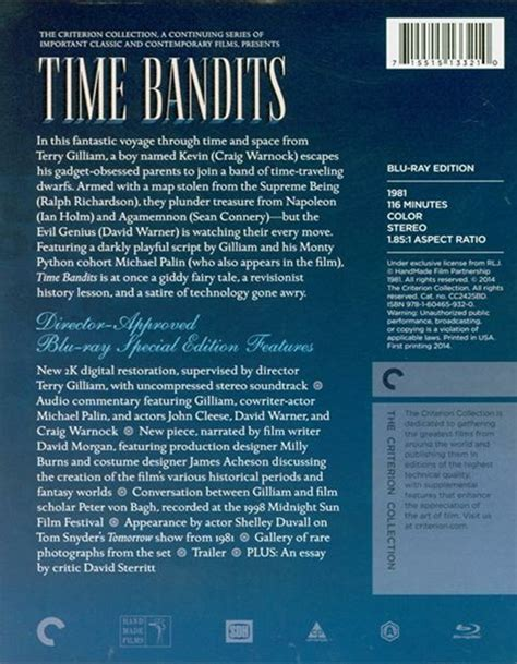time bandits the criterion collection 1981 dvd empire