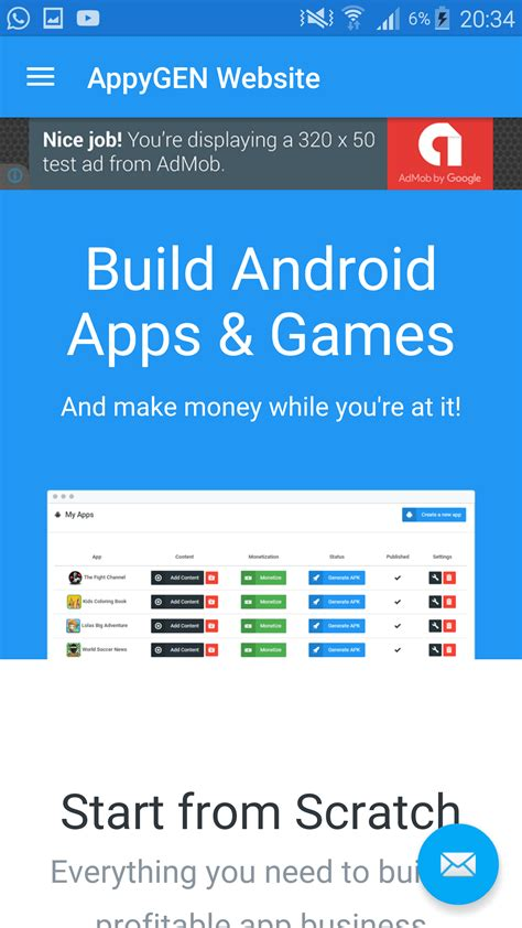 how to create android app for wapka site online free appygen create your own android apps without coding