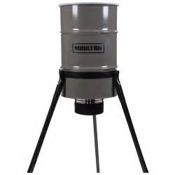 Clearance Deer Feeders Moultrie 55 Gallon Pro Magnum Tripod Feeder 665302