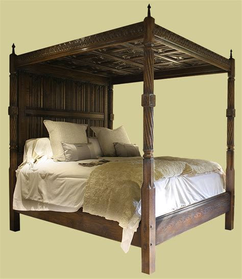 tudor bedroom furniture early tudor style hand carved solid oak four poster bed