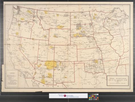 texas indian reservations map indian reservations west of the mississippi river 1919 sequence 1 the portal to texas history