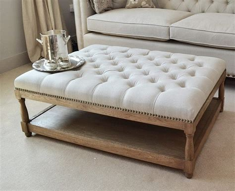 upholstered ottoman coffee table pin by katie boling on living room pinterest