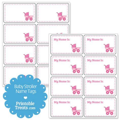 printable name tags for baby shower printable pink baby stroller name tags printable treats com