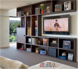 bookcase with tv space 9 ways to design around a tv centsational