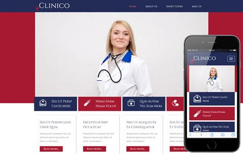 bootstrap templates for hospital medica hospital mobile website template by w3layouts