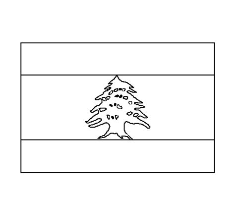 flag of lebanon coloring pages