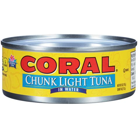what is chunk light tuna coral 174 chunk light tuna in water bumble bee tuna and