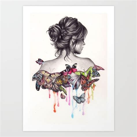 butterfly effect art print by katepowellart society6